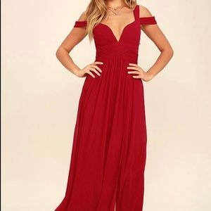 Lulus | Red Gown / Prom Dress Full Length